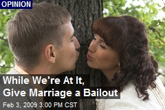 While We're At It, Give Marriage a Bailout