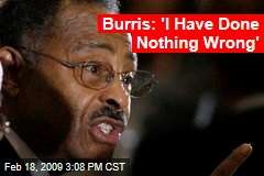 Burris: 'I Have Done Nothing Wrong'
