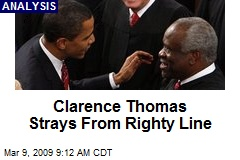 Clarence Thomas Strays From Righty Line