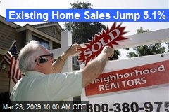 Existing Home Sales Jump 5.1%