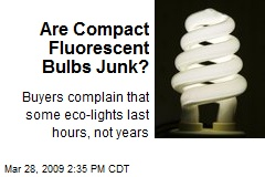Are Compact Fluorescent Bulbs Junk?