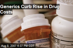 Generics Curb Rise in Drug Costs