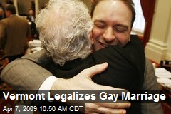 Vermont Legalizes Gay Marriage