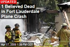 1 Believed Dead in Fort Lauderdale Plane Crash