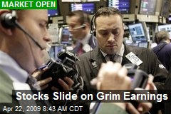 Stocks Slide on Grim Earnings