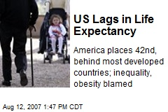US Lags in Life Expectancy