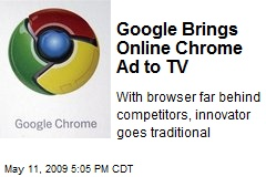 Google Brings Online Chrome Ad to TV