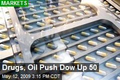 Drugs, Oil Push Dow Up 50