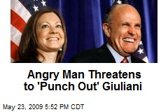 Angry Man Threatens to 'Punch Out' Giuliani