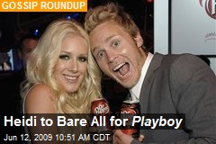 Heidi to Bare All for Playboy