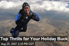 Top Thrills for Your Holiday Buck
