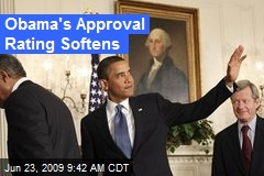 Obama's Approval Rating Softens
