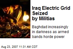 Iraq Electric Grid Seized by Militias