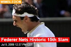 Federer Nets Historic 15th Slam