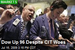 Dow Up 96 Despite CIT Woes
