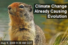 Climate Change Already Causing Evolution