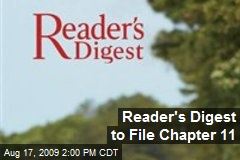 Reader's Digest to File Chapter 11
