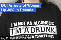 DUI Arrests of Women Up 30% in Decade