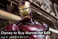 Disney to Buy Marvel for $4B