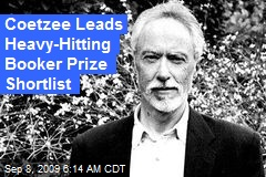 Coetzee Leads Heavy-Hitting Booker Prize Shortlist