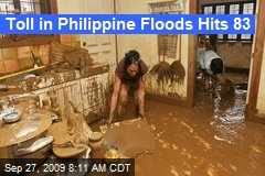 Toll in Philippine Floods Hits 83