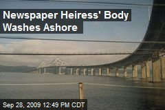 Newspaper Heiress' Body Washes Ashore