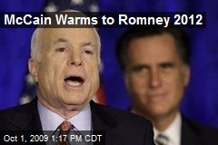McCain Warms to Romney 2012