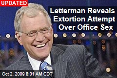 Letterman Reveals Extortion Attempt Over Office Sex