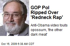 GOP Pol Ripped Over 'Redneck Rap'