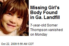 Missing Girl's Body Found in Ga. Landfill