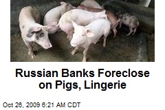 Russian Banks Foreclose on Pigs, Lingerie