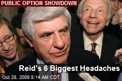 Reid's 6 Biggest Headaches