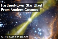 Farthest-Ever Star Blast From Ancient Cosmos