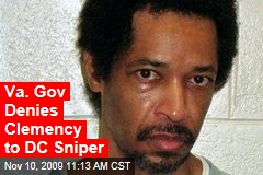 Va. Gov Denies Clemency to DC Sniper