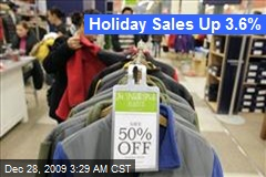 Holiday Sales Up 3.6%