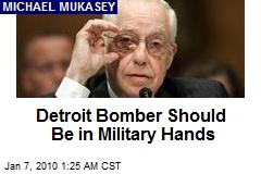 Detroit Bomber Should Be in Military Hands