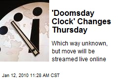 'Doomsday Clock' Changes Thursday