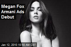 Megan Fox Armani Ads Debut