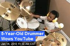 5-Year-Old Drummer Wows YouTube