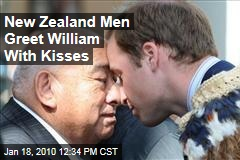New Zealand Men Greet William With Kisses