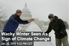 Wacky Winter Seen As Sign of Climate Change