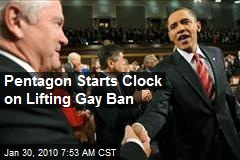 Pentagon Starts Clock on Lifting Gay Ban