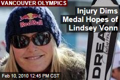 Injury Dims Medal Hopes of Lindsey Vonn