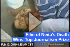 Film of Neda's Death Wins Top Journalism Prize