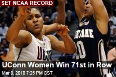 UConn Women Win 71st in Row