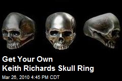 Get Your Own Keith Richards Skull Ring