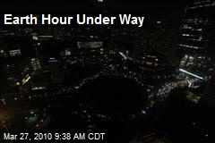 Earth Hour Under Way
