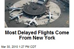 Most Delayed Flights Come From New York