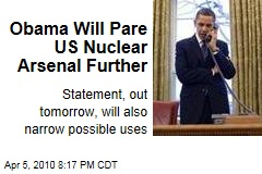 Obama Will Pare US Nuclear Arsenal Further
