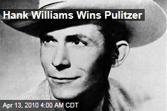 Hank Williams Wins Pulitzer